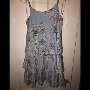 CeCe California Floral Tiered Dress